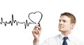 Drawing Heartbeat Royalty Free Stock Photos - 25415338