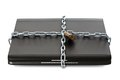 Laptop With Chains And Lock Stock Photos - 25418423