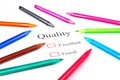 Pens On Quality Test Stock Image - 25419491