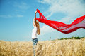 Teen Girl At A Wheat Field Stock Photography - 25422582