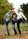 Happy Friends Having Fun In Park Laughing Stock Photography - 25428492
