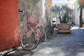 Bicycles On Sunny Street Stock Images - 25428784