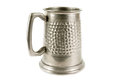 Pewter Old Tankard On White Stock Images - 25435704