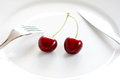 Two Cherries Stock Photography - 25437302