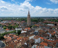 Top View On The Church Of Our Lady In Bruges Stock Image - 25448851