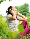 Young Woman With Headphones Stock Photography - 25452552