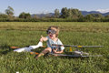 The Little Villain Boy And New RC Plane Royalty Free Stock Photos - 25469468