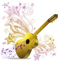 Golden Guitar Stock Photography - 25473612