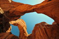 The Beautiful Double Arch At Arches National Park Royalty Free Stock Photography - 25476447