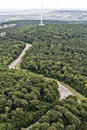 Top View Of A Highway In The Woods Royalty Free Stock Images - 25477839