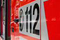 Emergency Call 112 On An Ambulance Royalty Free Stock Photography - 25483417