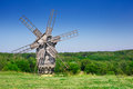 Old Wooden Windmill Royalty Free Stock Photography - 25490577