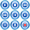 Set Icon Blue 08. Stock Images - 25492674