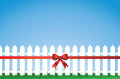Bow Tied Picket Fence Royalty Free Stock Image - 25496456
