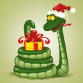 Christmas Snake Royalty Free Stock Image - 25496746
