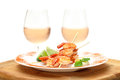 Fried King Prawns Served In Plate Stock Images - 25497944
