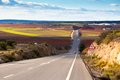 Empty Country Road In Winter Spain Royalty Free Stock Image - 25506176