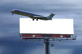 Travel Concept With Blank Roadside Billboard Stock Photography - 25510202