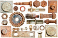 Collection Old Rusty Screw Heads And Bolts Stock Photography - 25514992