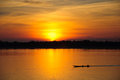 A Boat With Sun Rise Stock Images - 25517964
