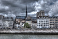 Building And Notre Dame De Paris Cathedral. Stock Photography - 25528492