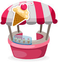 Ice Cream Stand Shop Stock Images - 25530414