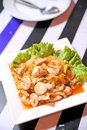 Sausage Salad Spicy Royalty Free Stock Images - 25531189