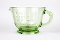 Green Depression Glass Measuring Cup Royalty Free Stock Images - 25555339