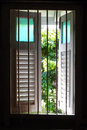 Old Wooden Window With Garden View Royalty Free Stock Photography - 25558027