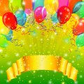 Holiday Background With Balloons Stock Photography - 25559382