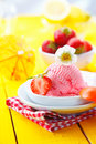 Fresh Strawberry Icecream In Summer Royalty Free Stock Photos - 25562218