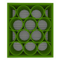 Empty Green Shelves Rounded Royalty Free Stock Image - 25570296