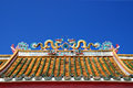 Dragon Chinese Temple Roof Royalty Free Stock Photo - 25575355