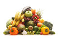 A Huge Pile Of Fresh Fruits And Vegetables Royalty Free Stock Photo - 25577315