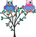 Two Cute Owls Royalty Free Stock Image - 25577736