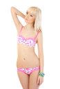 Beautiful Blonde Woman In Sexy Pink Lingerie Royalty Free Stock Image - 25579756