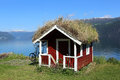 Grass Roofed Hut Royalty Free Stock Image - 25588796