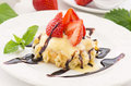 Waffle With Strawberries Stock Photography - 25591672