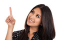 Business Woman Pointing Up Stock Image - 25598661