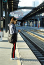 Waiting For The Train Royalty Free Stock Image - 2563526