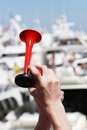 Air Horn - Two Hands Royalty Free Stock Photo - 2565015