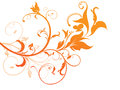 Abstract Orange Based Floral Royalty Free Stock Image - 25601596