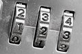 Combination Lock Dials Stock Photography - 25602632