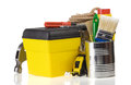 Set Of Tools And Instruments In Box Stock Image - 25602851