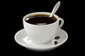 Cup Of Coffee On Black Royalty Free Stock Image - 25602876