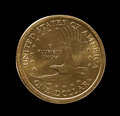 Macro Image Of One Dollar US Coin Royalty Free Stock Photo - 25606855