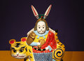 Chinese Rabbit Toy Royalty Free Stock Photo - 25608285