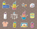 Baby Stuff Stickers Royalty Free Stock Images - 25609239