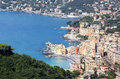 Village Of Camogli Along The Golfo Paradiso, Italy Royalty Free Stock Image - 25613666