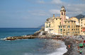 Church Of Camogli Along The Mediterranean, Italy Stock Photography - 25613762